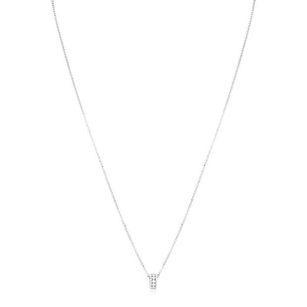 18K White Gold Symphony Collection Diamond Pendant Necklace