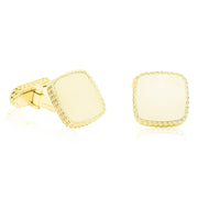 18K Yellow Gold High Polish Cufflinks