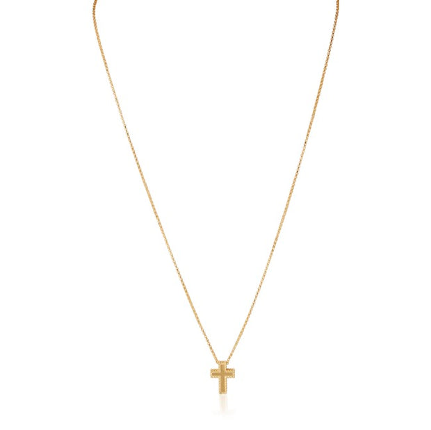 18K Yellow Gold Necklace With A Cross Pendant