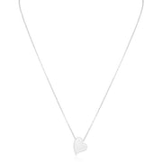 18K White Gold Necklace With A Heart Shaped Pendant