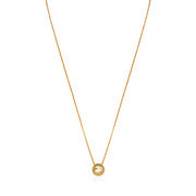 18K Yellow Gold Wink Emoji Necklace