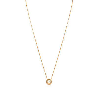18K Yellow Gold Smiley Emoji Necklace