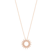 18K Rose Gold Necklace With A Starburst Pendant