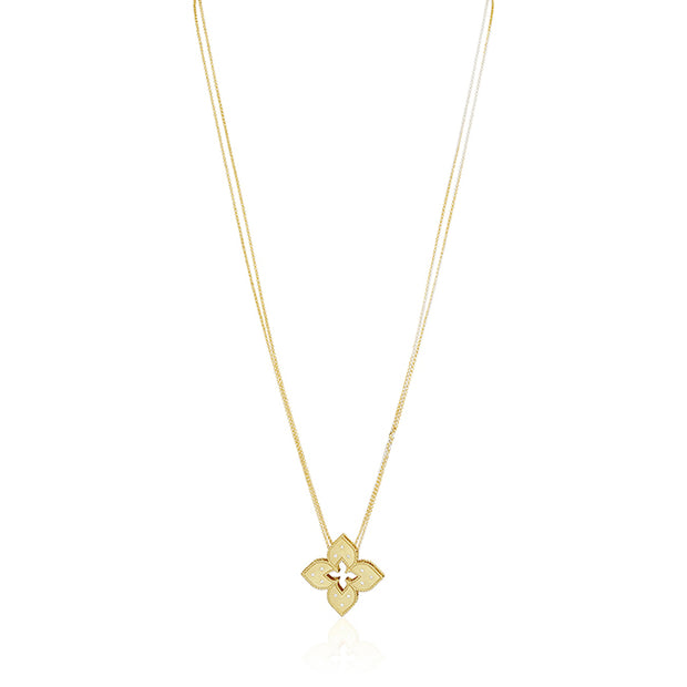18K Yellow Gold Venetian Princess Collection Necklace with Diamonds