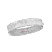 18K White Gold Venetian Princess Collection Diamond Bangle