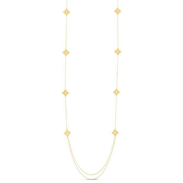 18K Yellow Gold Venetian Princess Collection Diamond Necklace