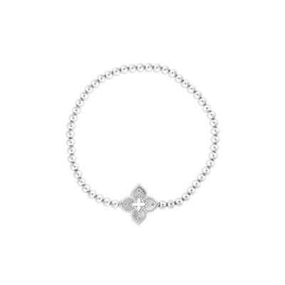 18K White Gold Venetian Princess Collection Stretch Bracelet