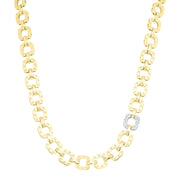 18K Yellow and White Gold Pois Moi Collection Chain Necklace with Diamonds