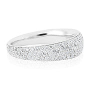 18K White Gold Scalare Collection White Gold and Diamond Ring