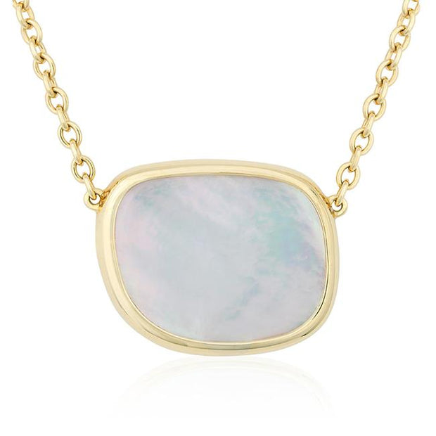 Rose Gold Mother of Pearl Necklace