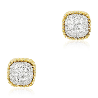 18K Yellow Gold New Barocco Collection Stud Earrings