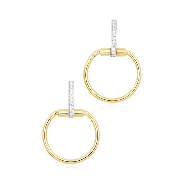 18K Yellow Gold Classic Parisienne Collection Earrings