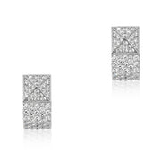 18K Whit Gold Sauvage Prive Collection Earrings