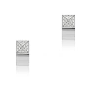 18K White Gold Sauvage Prive Collection Earrings