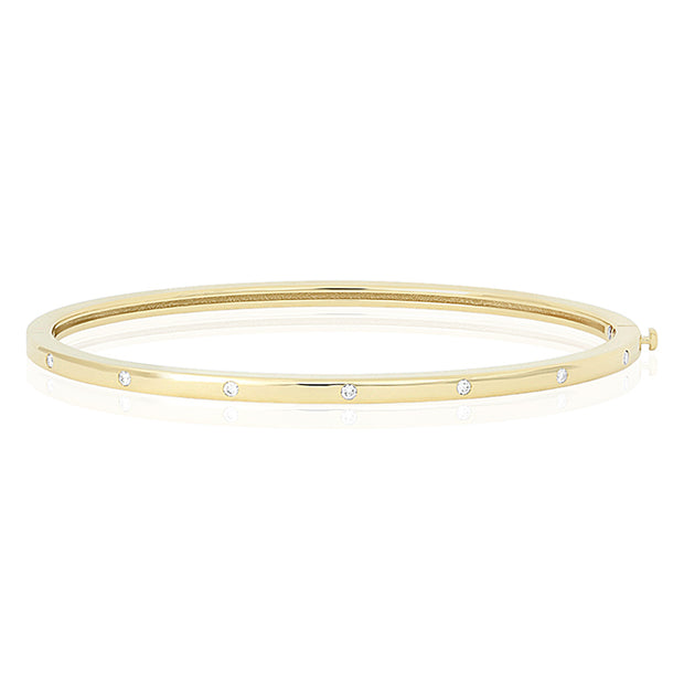 18K Yellow Gold Classica Collection Diamond Bangle Bracelet