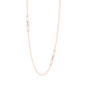 Rose and White Gold Classica Parisienne Necklace