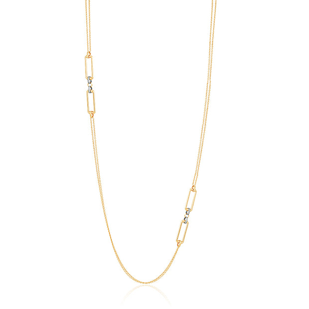 White and Yellow Gold Classica Parisienne Necklace