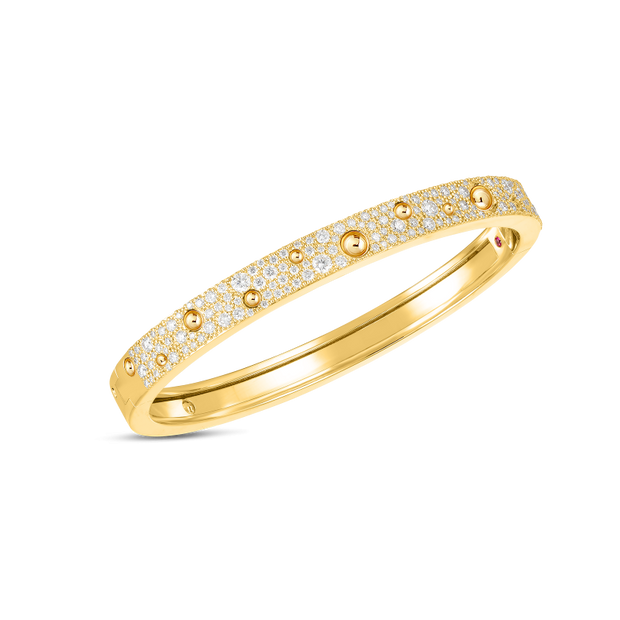 18K Yellow Gold Pois Moi Luna Collection Diamond Bangle