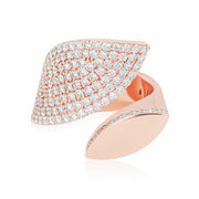 Roberto Coin Rose Gold Diamond Petal Ring