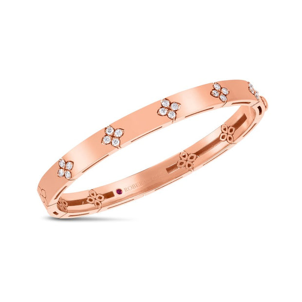 18K Rose Gold Love in Verona Collection Diamond Bangle