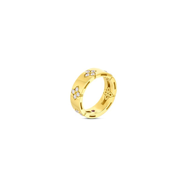 18K Yellow Gold Love in Verona Collection Diamond Ring