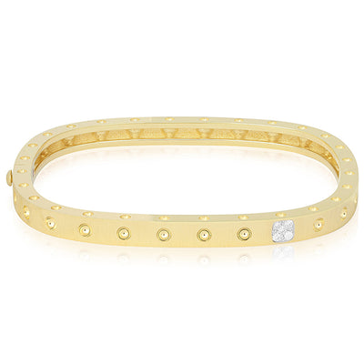 18K Yellow and White Gold Pois Moi Collection Bangle