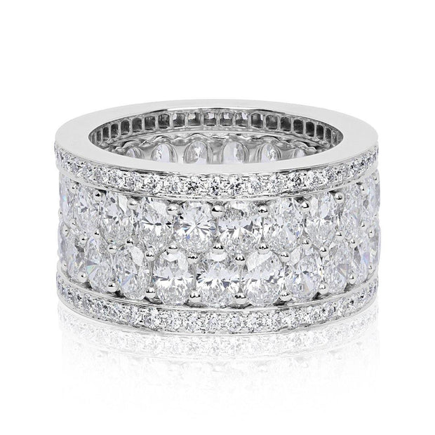 18K White Gold and Diamond American Glamour  Eternity Band - TIVOL