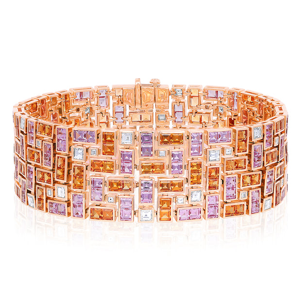 18K Rose Gold Masterpiece Collection Sapphire and Diamond Bracelet