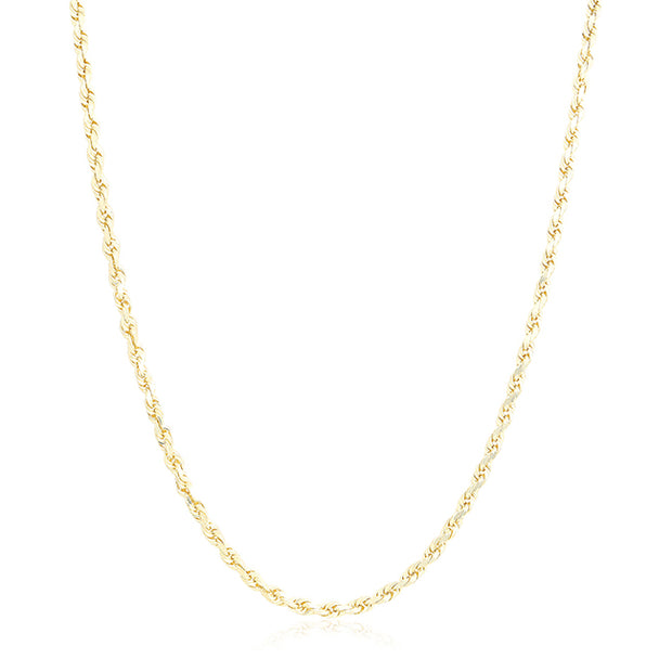 "Tivol 14K Yellow Gold 24"" Rope Chain Necklace"