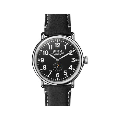 Runwell 47mm Watch with Black Arabic Dial