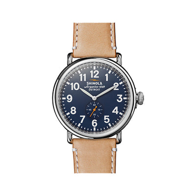 Runwell 47mm Watch with Leather Strap