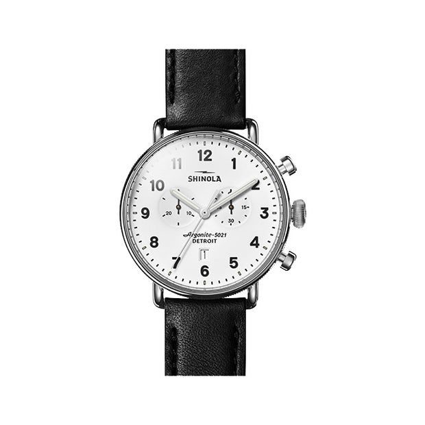 Canfield 43mm Black and White Watch