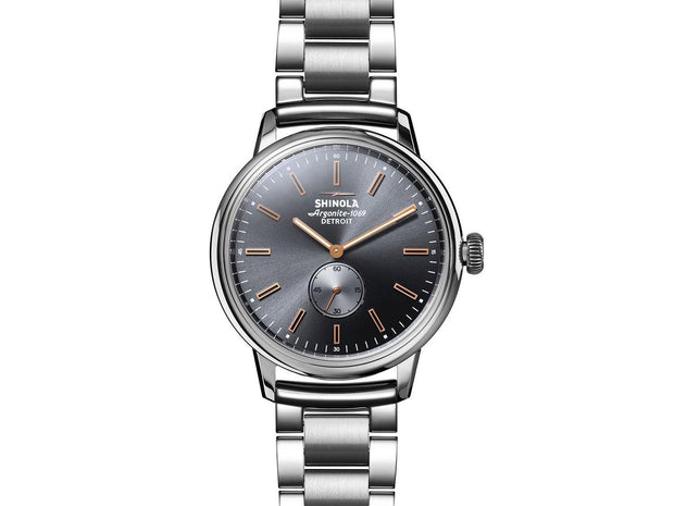 Bedrock 42mm Watch with Cool Gray Dial and Stainless Steel Bracelet