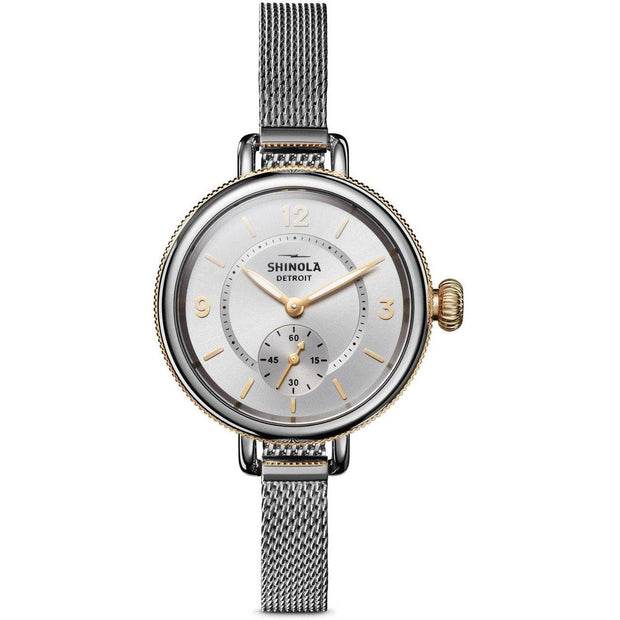 Birdy 34mm Watch with Silver Dial and Stainless Steel Mesh Bracelet