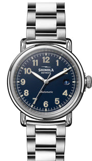 Runwell 39.5mm Watch with Midnight Blue Dial and Stainless Steel Bracelet