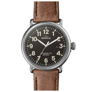 Runwell 47mm Watch with Dark Gray Dial and Tan Leather Strap - TIVOL