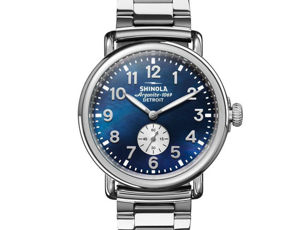 Runwell 41mm Watch with Midnight Blue Dial and Stainless Steel Bracelet