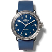 "Detrola ""Daily Wear"" 43mm Watch with Midnight Blue Dial and Blue Silicone Strap"