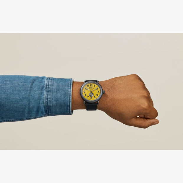 Runwell 47mm Watch with Maize Dial