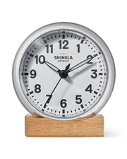 Runwell 6 Inch Desk Clock, White