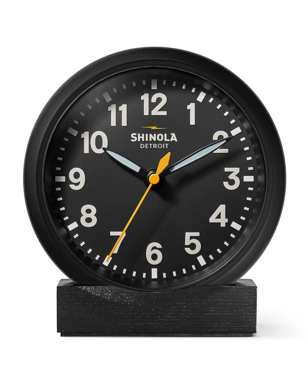 "6"" Stand Desk Clock, Black"