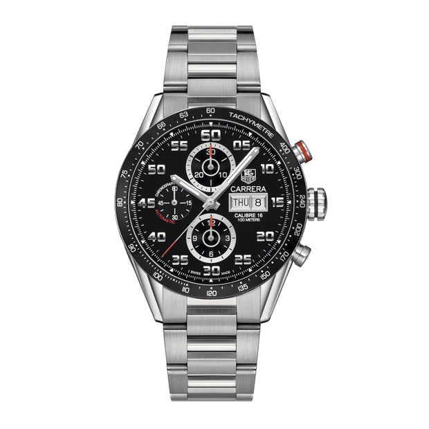 43mm Carrera Calibre 16 Day-Date Chronograph Watch