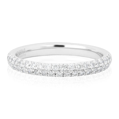 Platinum Two Row Diamond Band