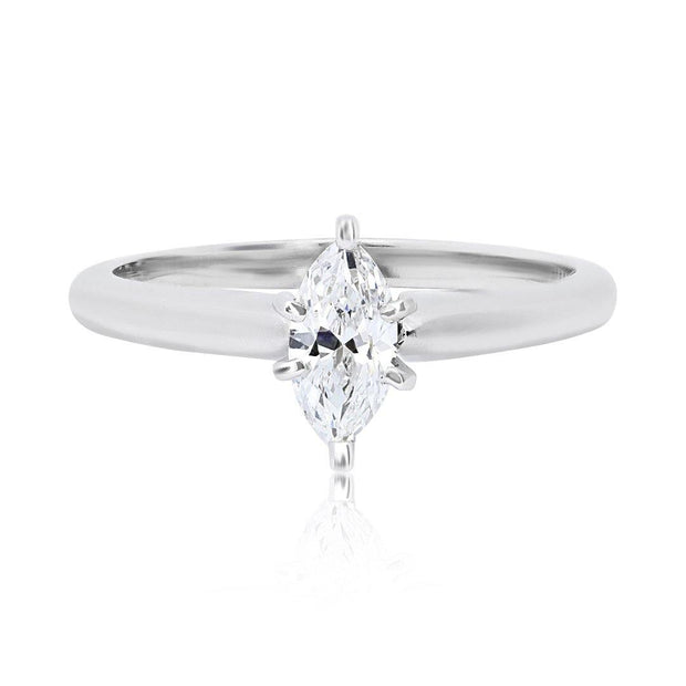14K White Gold Solitare Engagement Ring
