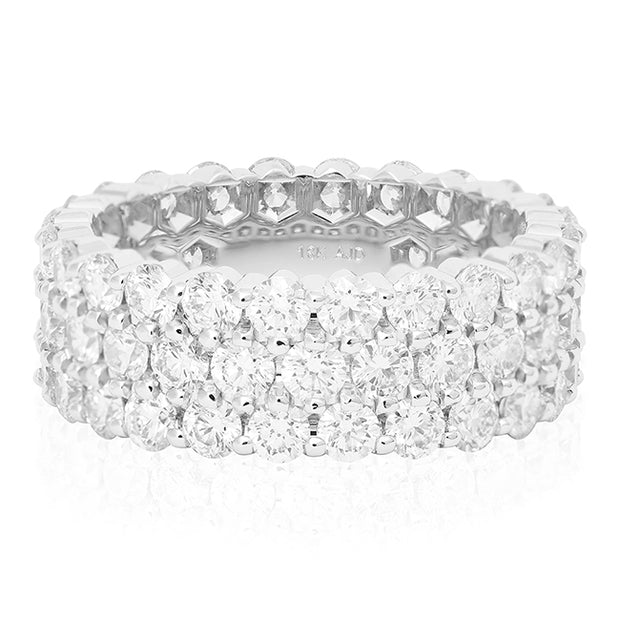 White Gold and Diamond Band