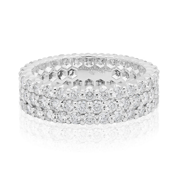 TIVOL White Gold and Diamond Band