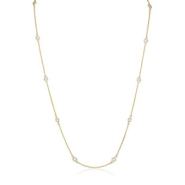 14K Yellow Gold Diamond Necklace