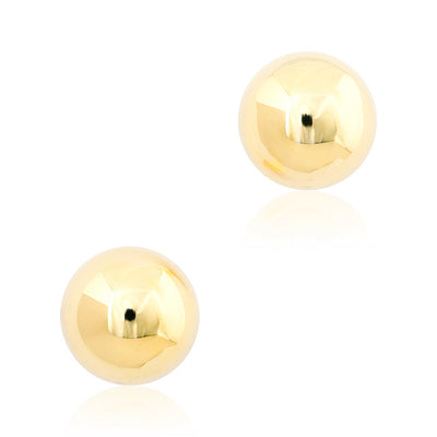 14K White and Yellow Gold Reversible Stud Earrings