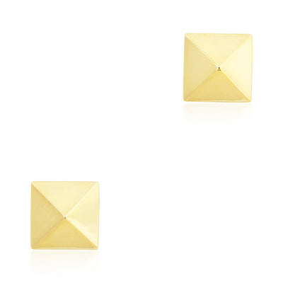 14K Yellow Gold Stud Post Earrings