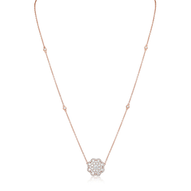 18K Rose Gold and Diamond Pendant Necklace